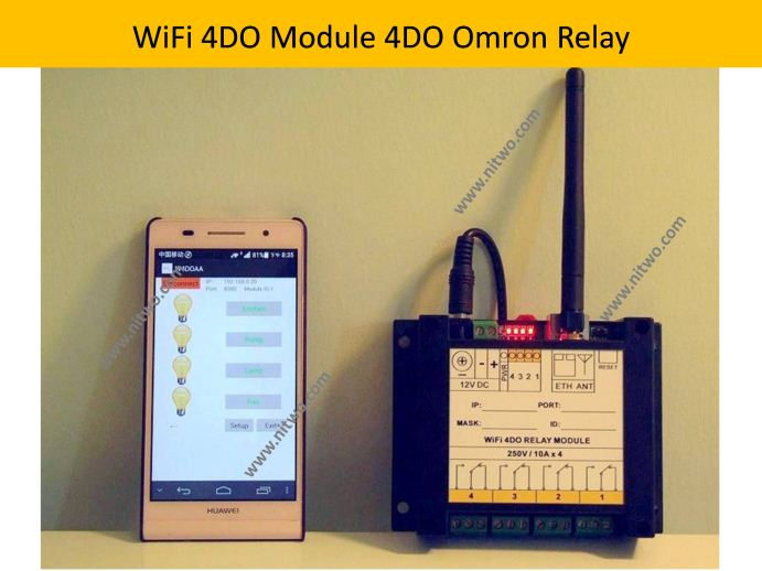 Network WiFi 4DO Relay Module